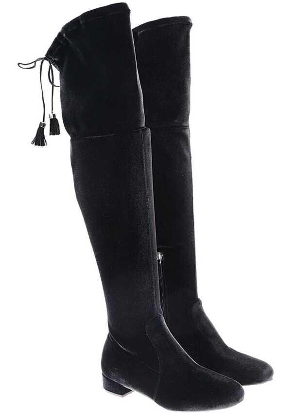 Prada Velvet Boots Black