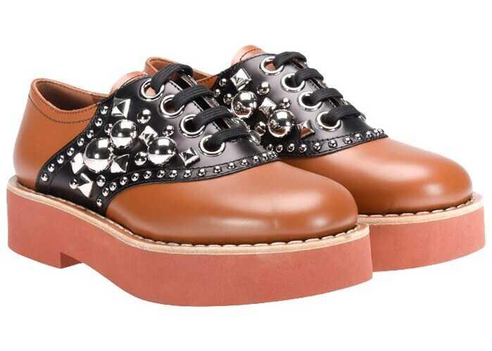Miu Miu Leather Shoes Brown