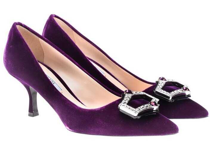 Prada Velvet Pumps Purple