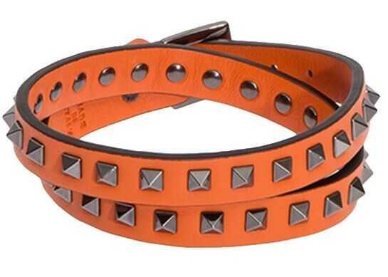 Valentino Garavani Leather Bracelet Orange