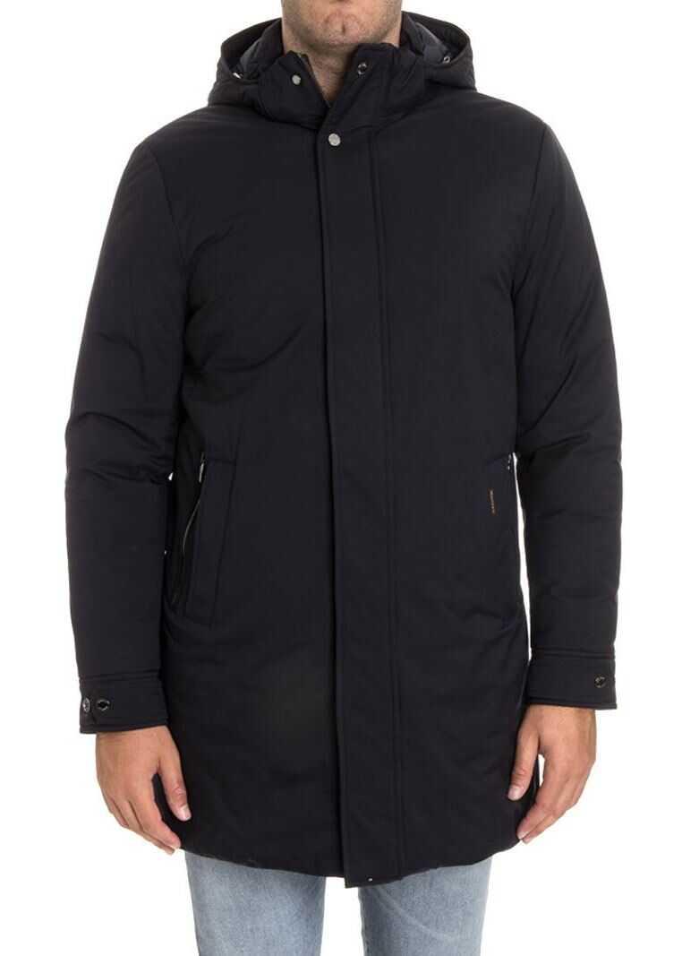 Moorer Hooded Down Jacket Blue