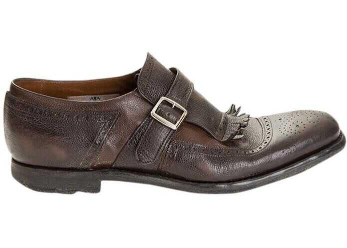 Church's Leather Shoes E0G001 9ACQF0SPD EBONY+BROWN Brown imagine b-mall.ro