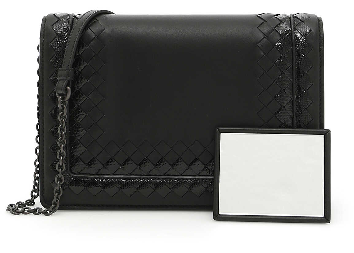 Bottega Veneta Nappa And Karung Shoulder Bag NERO/NERO