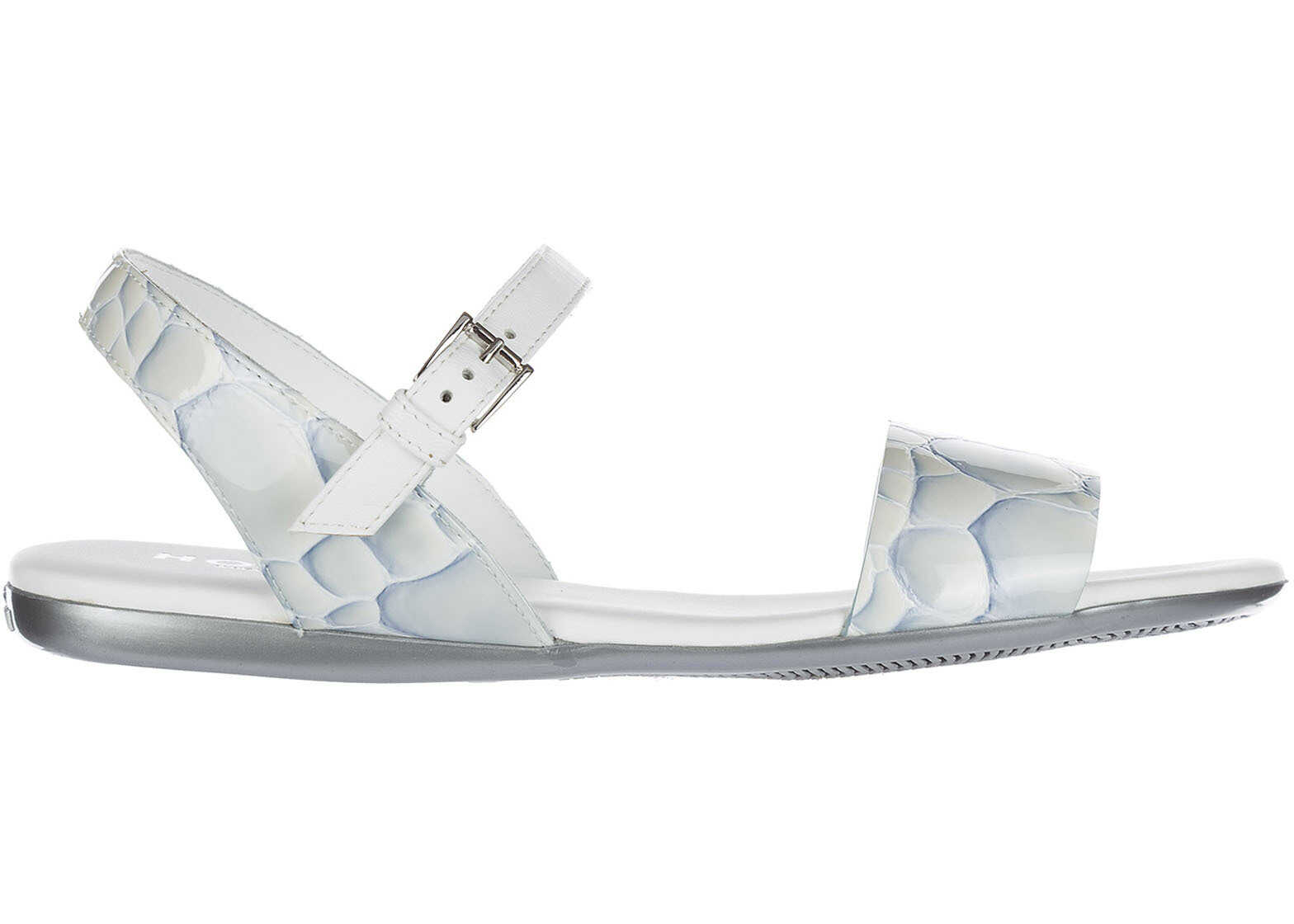 Hogan Leather Sandals White
