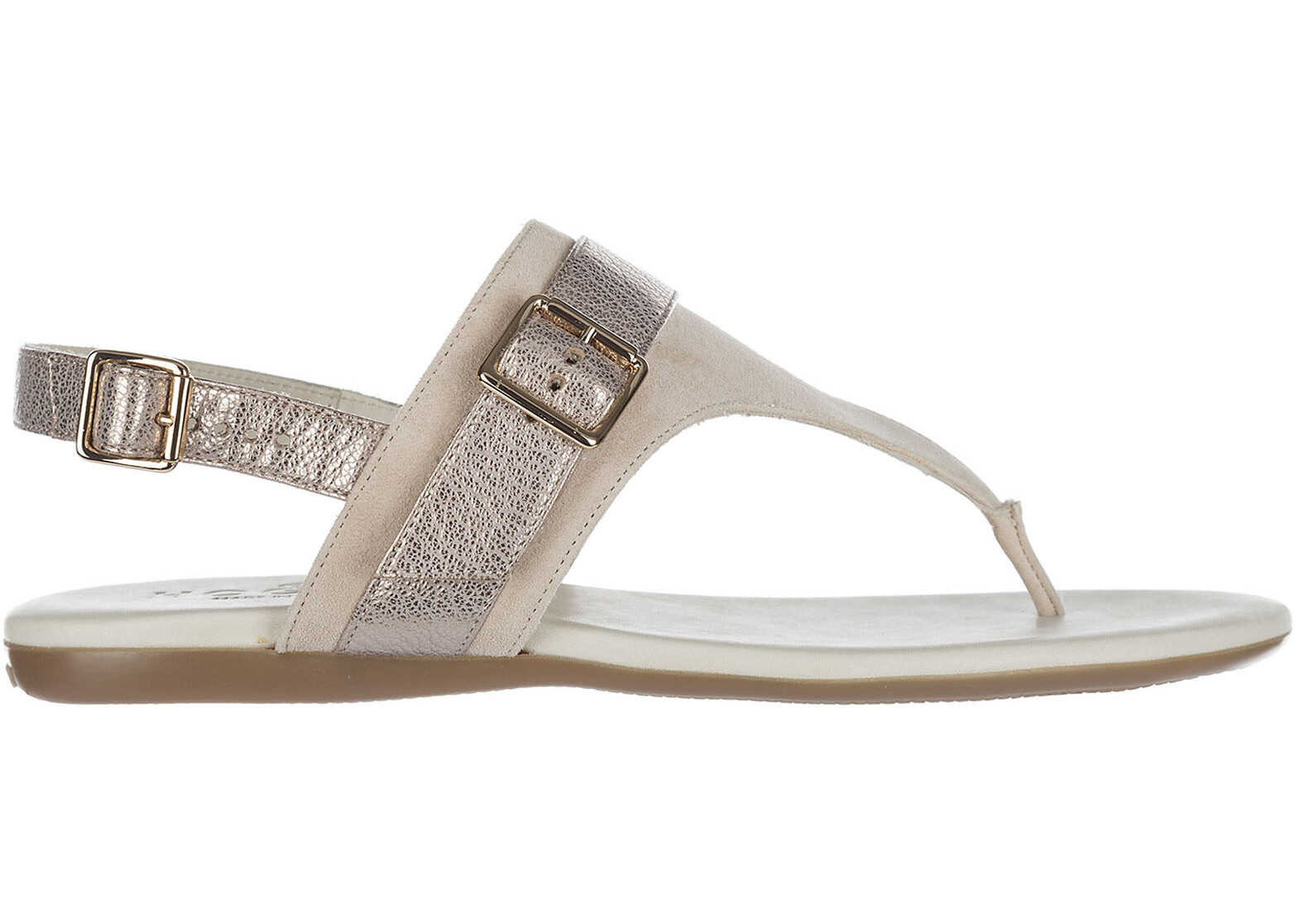Hogan Suede Sandals Beige