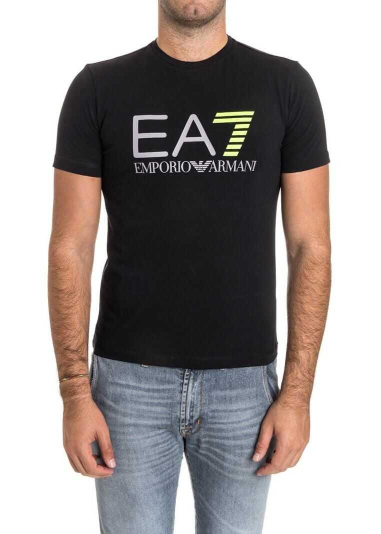 EA7 Stretch Cotton T-Shirt Black