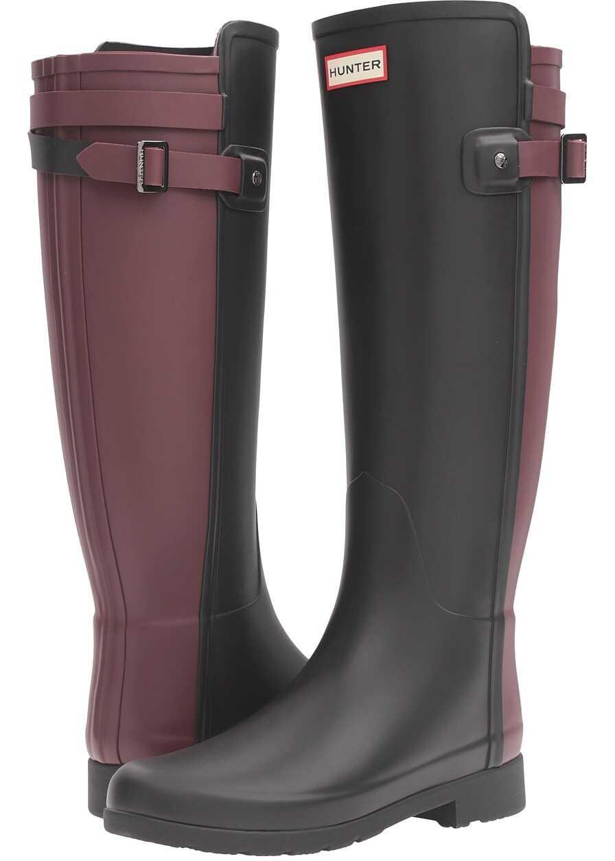 Hunter Original Refined Back Strap Rain Boots* Black/Dulse