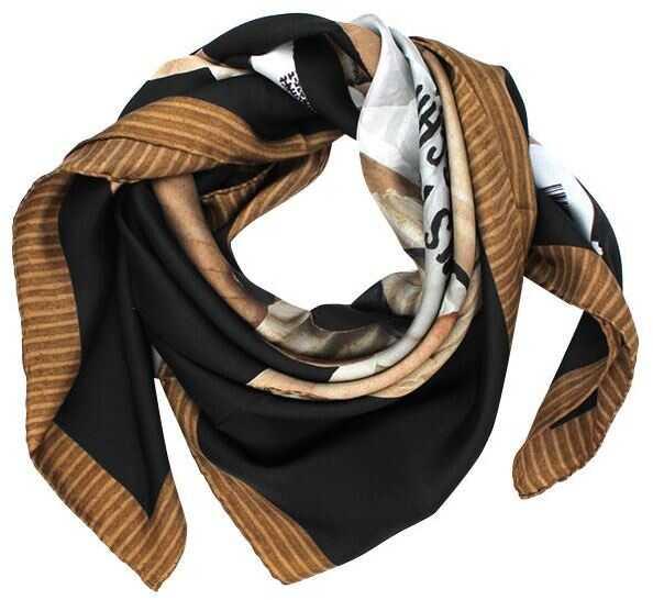 Moschino Silk Scarf Black