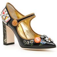 Pantofi cu Toc Shiny Calfskin Mary Jane Pumps Femei