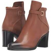 Ghete & Cizme Pebbled Leather Bootie with Block Heel* Femei