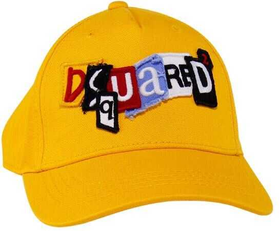 DSQUARED2 Cotton Cap Yellow