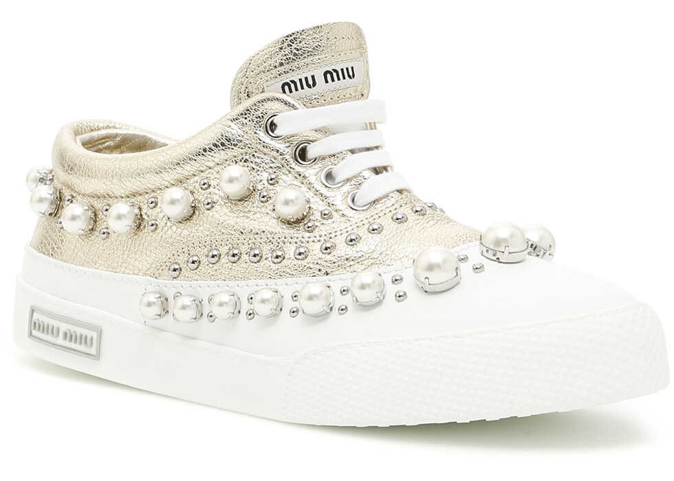 Miu Miu Laminated Madras Sneakers PIRITE