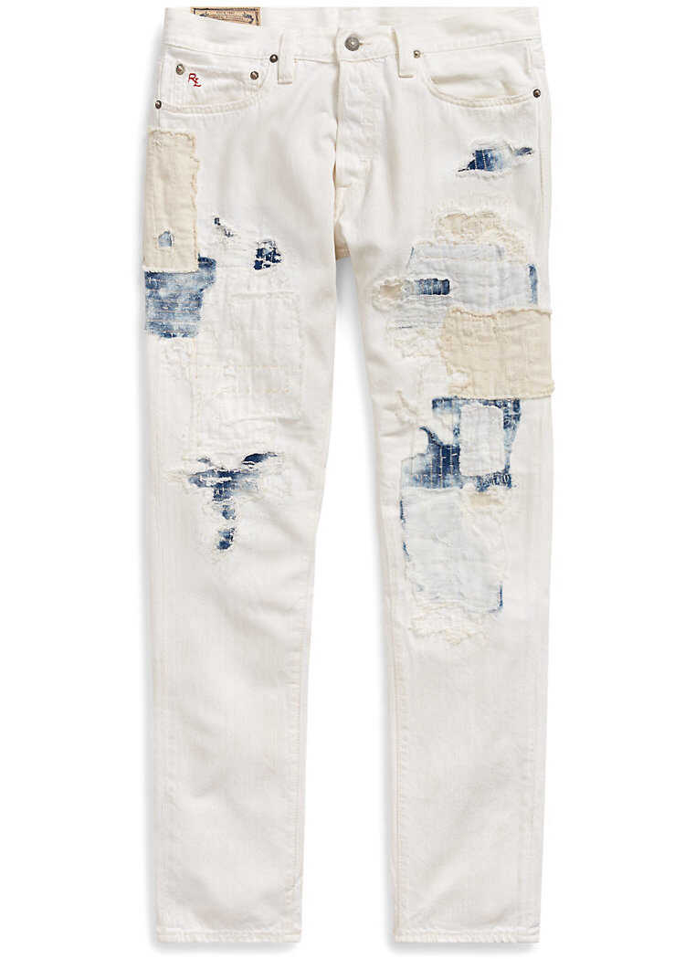 Ralph Lauren Logan Loose Tapered Jean* Samson White Repaired