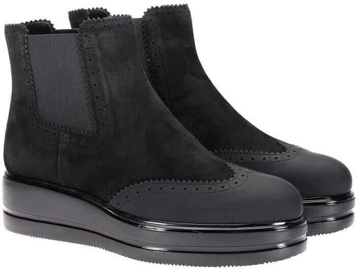 Hogan H323 Ankle Boots Black