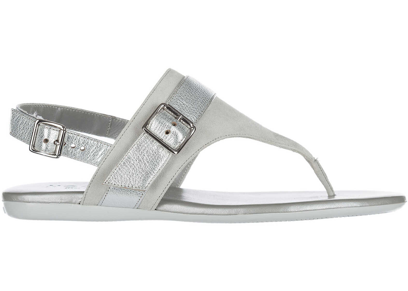 Hogan Suede Sandals Grey