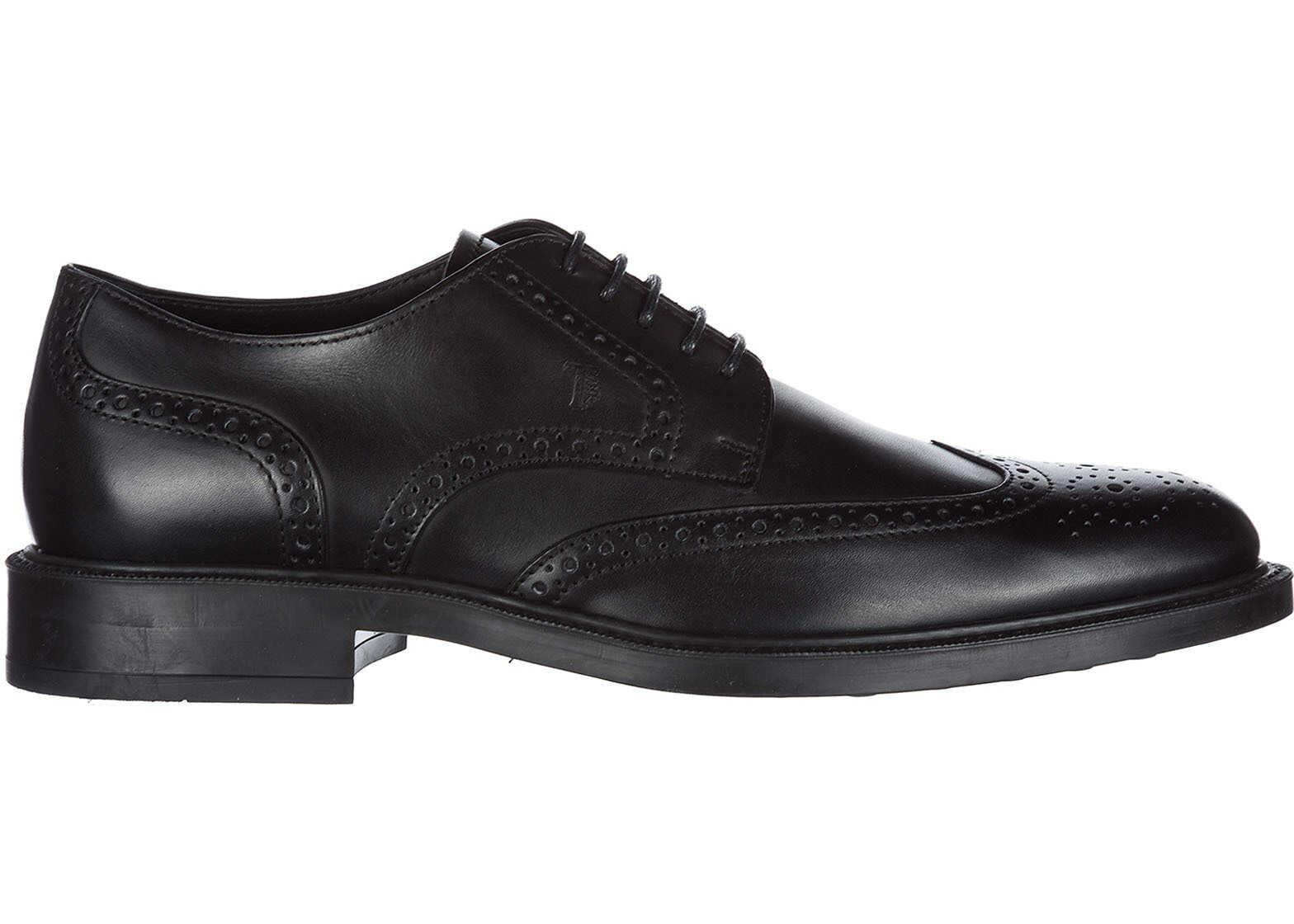 TOD'S Shoes Derby XXM45A00C10D90B999 Black imagine b-mall.ro