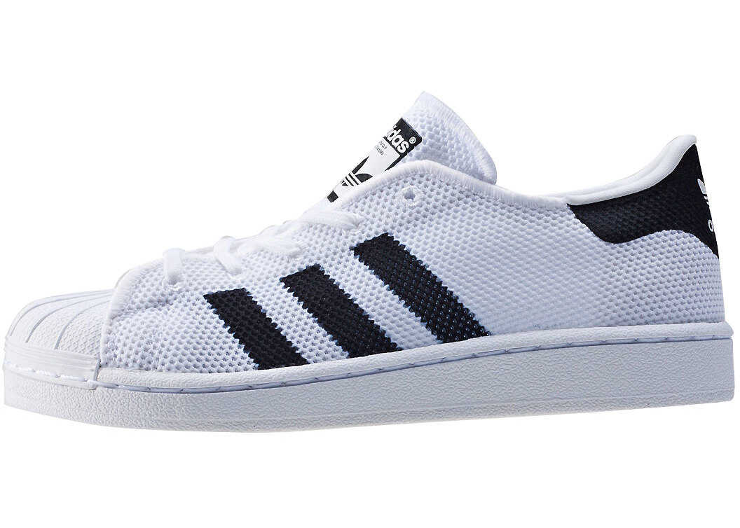 adidas Superstar C Kids Trainers In White Black White