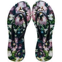 Slapi Aalo Entangled Enchantment Flip Flops In Black Floral Femei