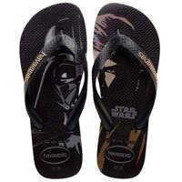 Slapi Star Wars Unisex Flip Flops In Black Barbati