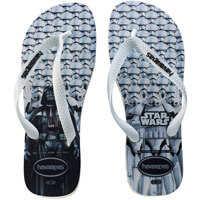 Slapi Star Wars Unisex Flip Flops In White Black Barbati