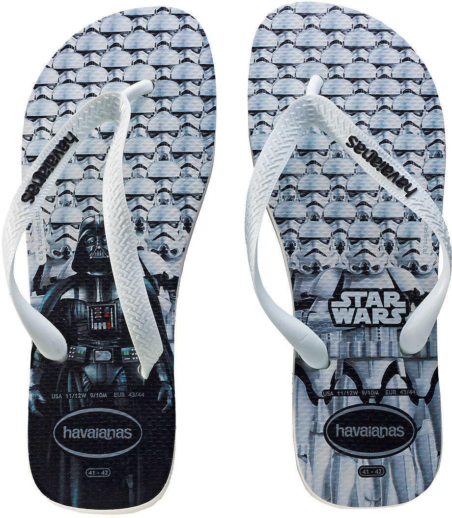 Havaianas Star Wars Unisex Flip Flops In White Black White