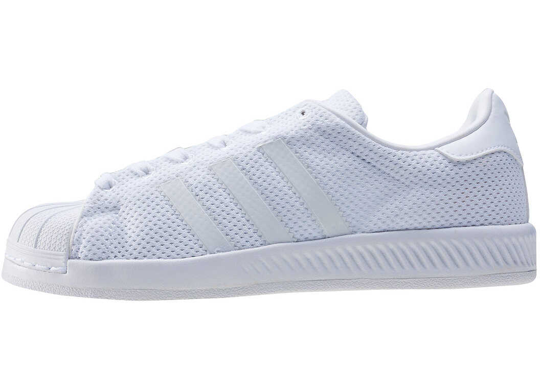 adidas Superstar Bounce J Kids Trainers In White White White