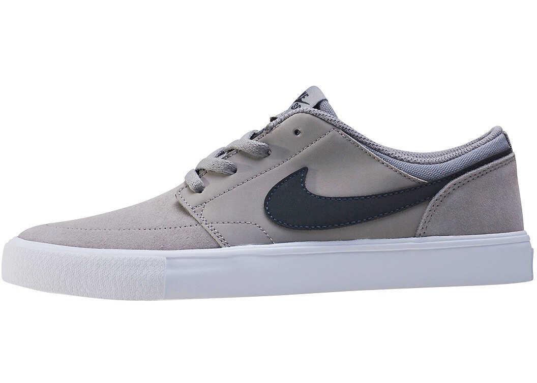Nike SB Portmore Ii (Gs) Kids Trainers In Grey Black Grey