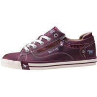 Tenisi & Adidasi Side Zip And Glitter Stripe Trainers In Burgundy Femei