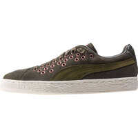 Tenisi & Adidasi Suede Xl Lace Velvet Rope Trainers In Olive Femei