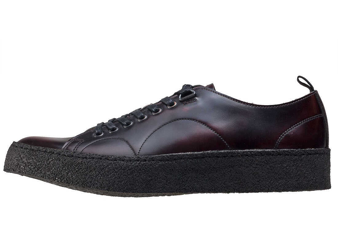 Fred Perry X George Cox Premium Creeper Unisex Shoes In Oxblood Red