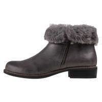 Ghete & Cizme Comb Fur Boot Ankle Boots In Anthracite Femei