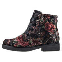 Ghete & Cizme Velvet Print Ankle Boots In Multicolour Femei