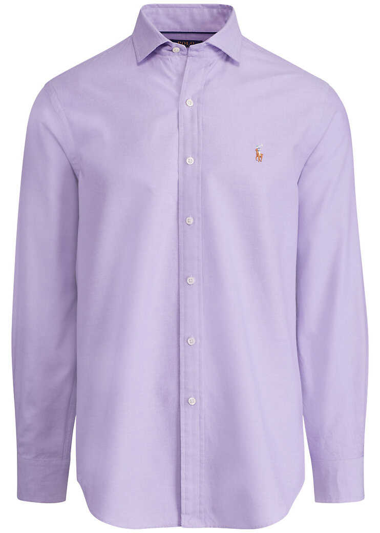 Ralph Lauren Slim Fit Cotton Oxford Shirt* Lavender/white