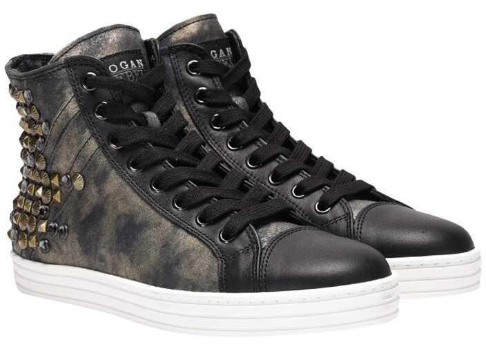 Hogan Rebel Leather Sneakers* Black