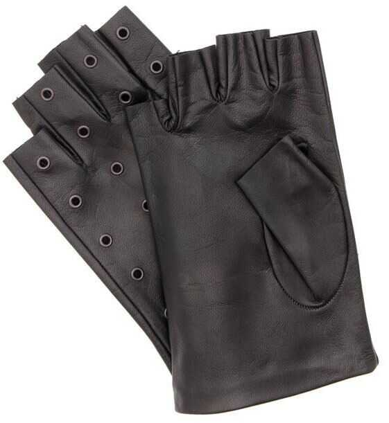 Karl Lagerfeld Leather Gloves Black