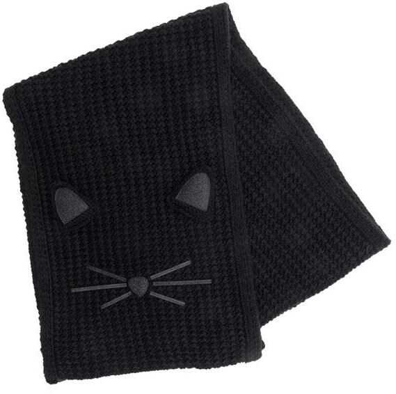 Karl Lagerfeld Knitted Scarf Black