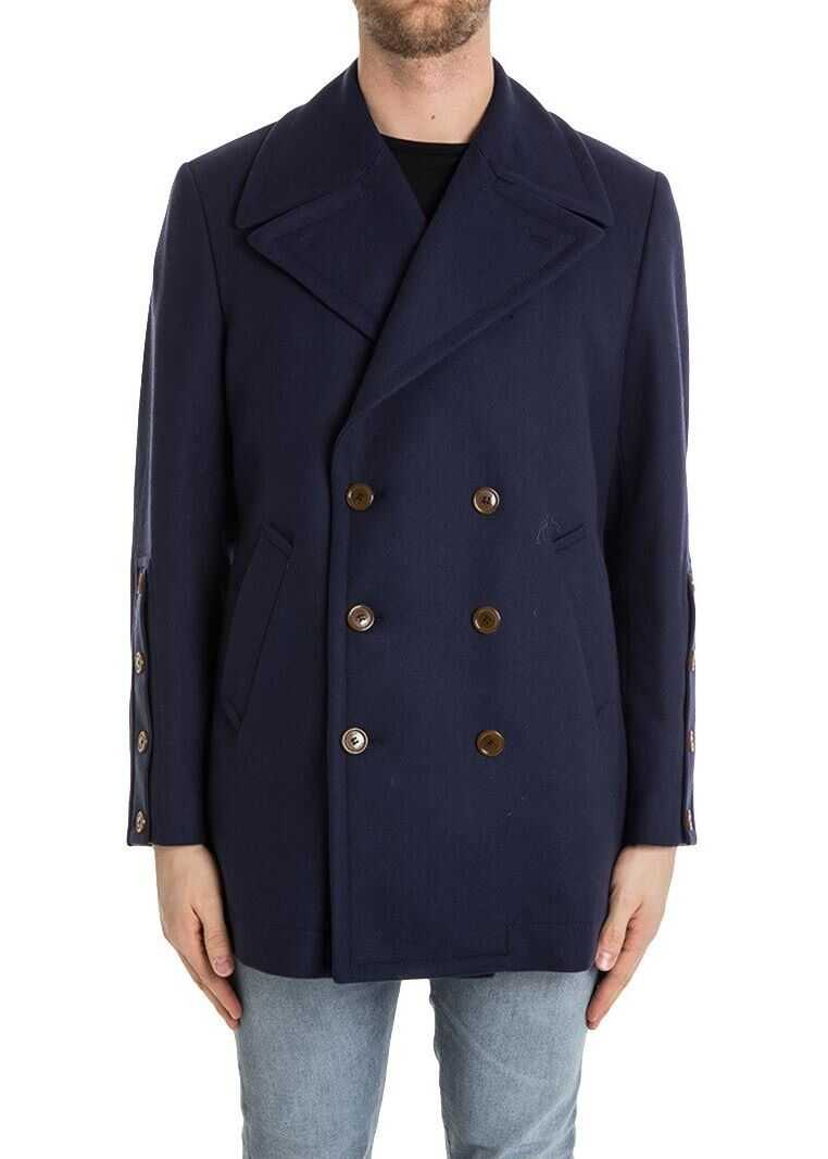 Vivienne Westwood Wool And Cashmere Coat Blue