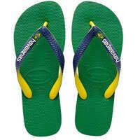 Slapi Brasil Mix Unisex Flip Flops In Green Yellow Barbati