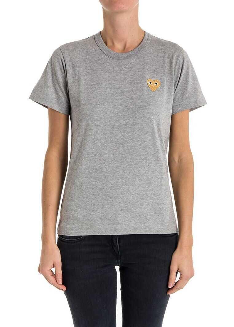 Comme des Garçons Play Cotton T-Shirt Gray