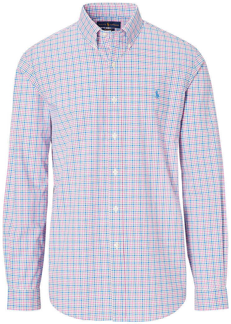 Ralph Lauren Classic Fit Plaid Cotton Shirt* Pink/blue Multi