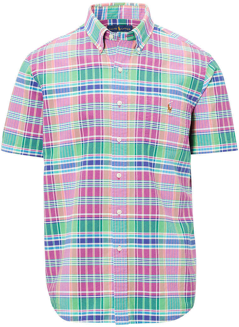Ralph Lauren Classic Fit Plaid Cotton Shirt* Emerald/purple Multi