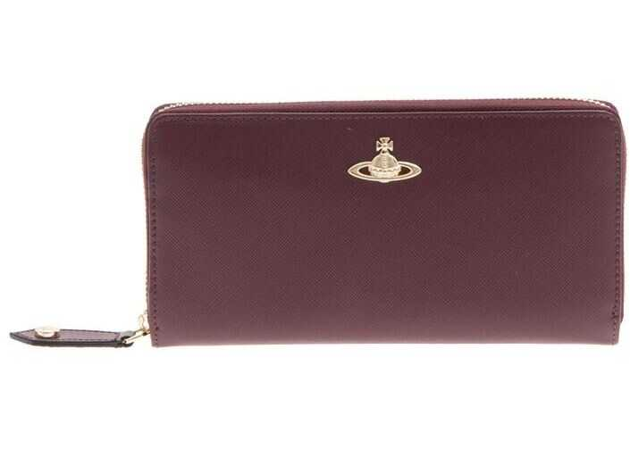 Vivienne Westwood Saffiano Effect Leather Wallet Red