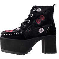 Ghete & Cizme T.u.k Casbah Queen Rose Embroidery Boots In Black Floral* Femei