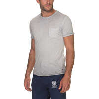 Tricouri Men's Grey T Shirt With Chest Pocket Barbati