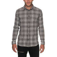 Camasi Erland Men's Grey Shirt With Checked Print Barbati
