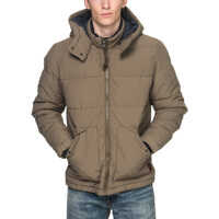 Geci Coast Puffer Men's Jacket In Beige Barbati