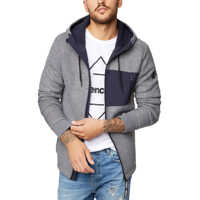 Geci Bonded Hoody Men's Jacket In Grey Barbati