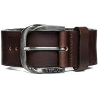 Curele Men's Brown Leather Belt With Engraved Logo Barbati