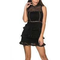 Rochii Women's Black Mini Dress Femei