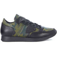 Tenisi & Adidasi Philippe Model Tropez Black Leather And Camouflage Sneaker*
